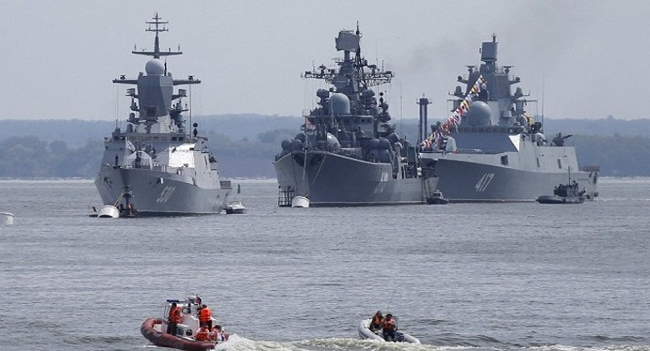 Hình ảnh tàu chiến của Hải quân Nga (ảnh: Sputnik)