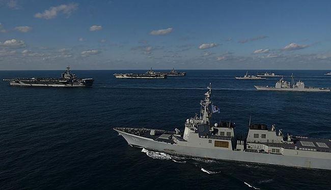 Ba cụm tấn công tàu sân bay Mỹ. Ảnh: Getty Images