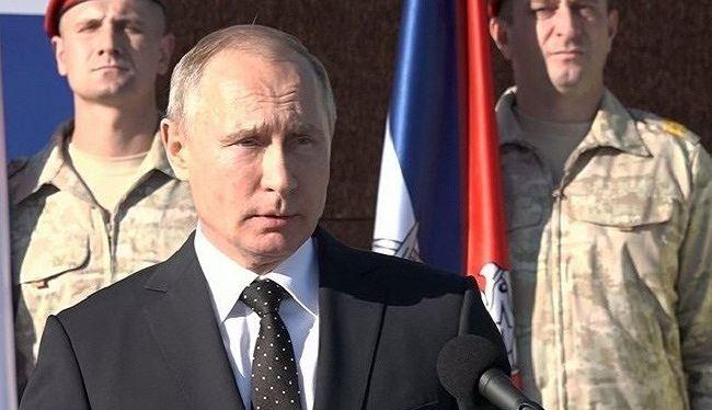 Tổng thống Nga Vladimir Putin tuyên bố chiến thắng quân sự ở Syria (ảnh: Strategic Culture)