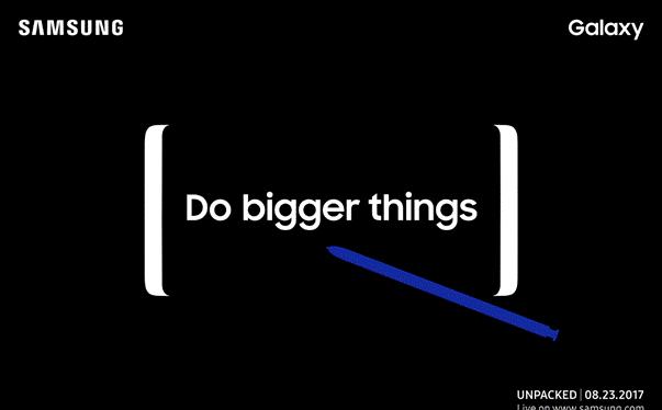 Samsung đã gửi giấy mời sự kiện ra mắt Galaxy Note 8 vào ngày 23/8 tới