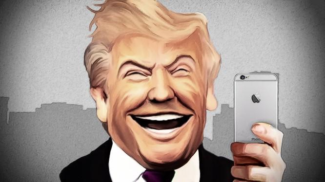 Chiếc điện thoại iPhone của Tổng thống Donald Trump không hề có trình duyệt web (Ảnh: Business Insider)
