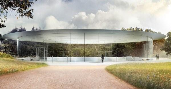 Steve Jobs Theater sẽ là nơi Apple giới thiệu iPhone mới. (Ảnh: Bloomberg)