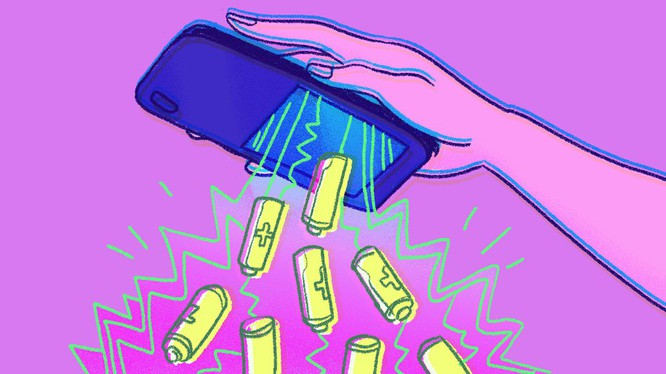 Điện thoại tương lai sẽ tích hợp nhiều tính năng và khó có thể thiết kế pin tháo rời. (Ảnh minh họa của Mashable)
