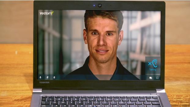 """Đây là """"thầy Will"""" đang dạy các em học sinh qua máy tính. Thực chất là một avatar kỹ thuật số có trang bị công nghệ trí tuệ nhân tạo."""