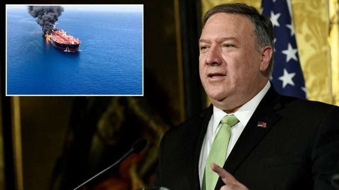 Ngoại trưởng Mỹ mike Pompeo nói chính quyền đang cân nhắc đòn đáp trả quân sự nhằm vào Iran (Ảnh: RT)