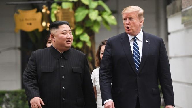 Lãnh đạo Mỹ, Triều Tiên trong Hội nghị thượng đỉnh lần hai tổ chức tại Hà Nội hồi tháng 2 năm nay (Ảnh: SCMP)