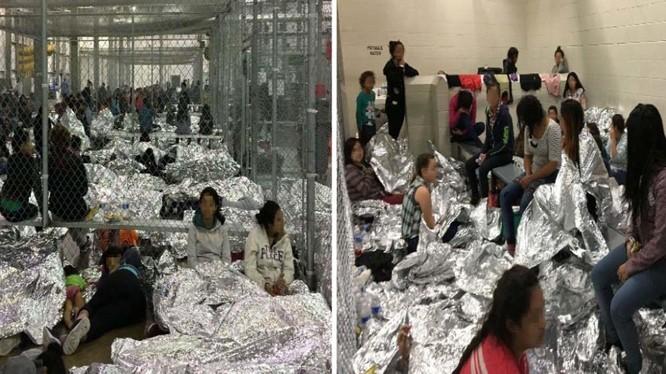 Tình trạng quá tải nguy hiểm trong các trung tâm giam giữ người nhập cư trái phép ở bang Texas (Ảnh: Getty)