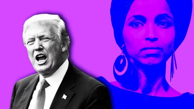 Tổng thống Trump và nữ nghị sỹ Ilhan Omar (bang Minnesota) (Ảnh: Dailt Beast)