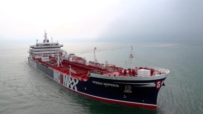 Tàu Stena Impero của Anh (Ảnh: Guardian)
