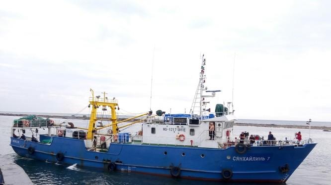 Tàu đánh cá Xiang Hai Lin 8 của Nga đã được Triều Tiên trả tự do (Ảnh: Shipspotting)