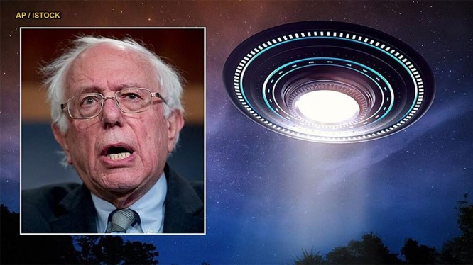 Thượng nghị sỹ Bernie Sanders hứa công khai thông tin về UFO và người ngoài hành tin (Ảnh: AP)