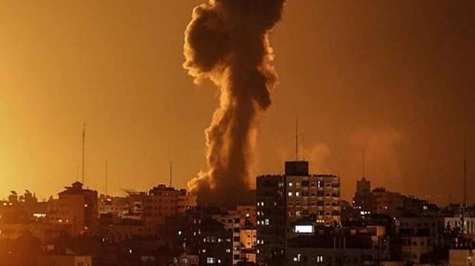 Một căn cứ của Phong trào Hamas trên Dải Gaza dính đòn không kích của Israel (Ảnh: Getty)
