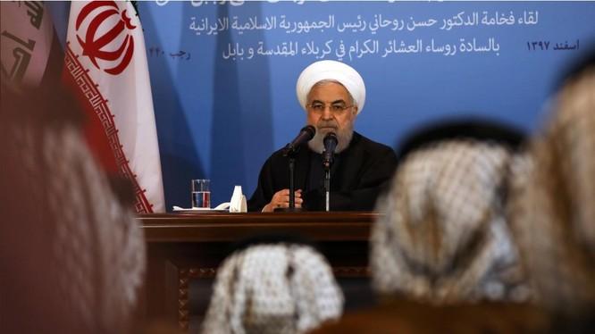 Tổng thống Iran Hassan Rouhani tuyên bố không bao giờ đối thoại song phương với Mỹ (Ảnh: Reuters)