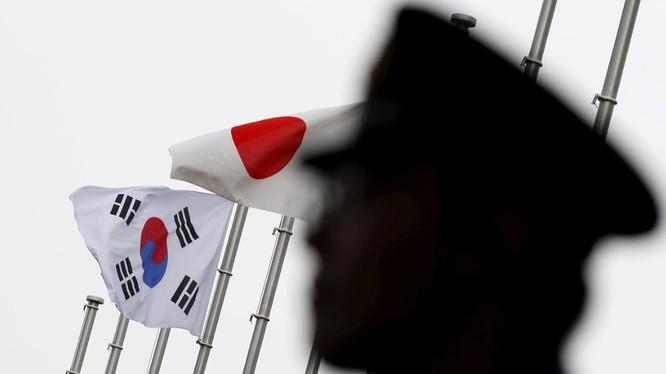 Quan hệ Nhật - Hàn đang trong giai đoạn căng thẳng do nhiều vấn đề tranh chấp nhạy cảm (Ảnh: Reuters)