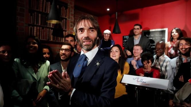 Ông Cedric Villani tuyên bố đứng ra tranh cử chức Thị trưởng Paris trong một sự kiện tổ chức hôm 4/9 (Ảnh: Reuters)