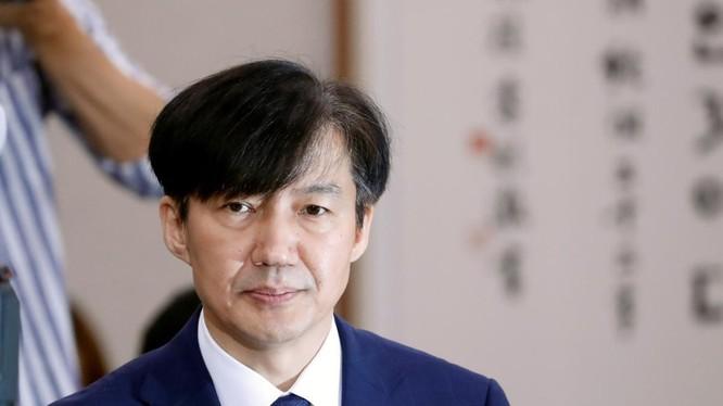 Ông Cho Kuk, ứng viên cho chức vụ Bộ trưởng Nội vụ Hàn Quốc, trong phiên điều trần hôm 6/9 (Ảnh: Reuters)