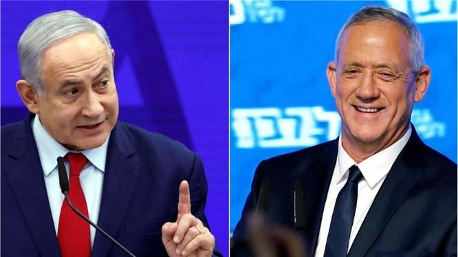 Đảng của Thủ tướng Netanyahu và cựu tướng quân đội Gantz đang ganh đua sát nút (Ảnh: Reuters)