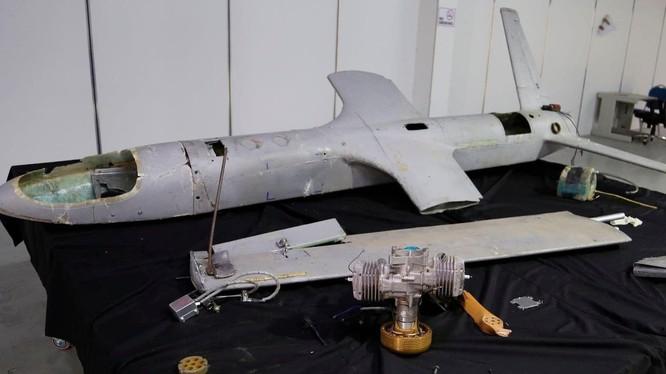 Một chiếc drone UAV-X của Houthi được bắt gặp ở Hodeida, Yemen (Ảnh: Washington Post)