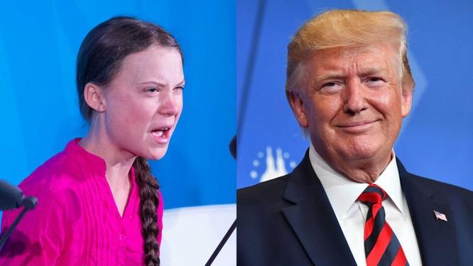 Ông Trump hứng chỉ trích sau bình luận chế giễu Thunberg trên Twitter (Ảnh: Dailywire)