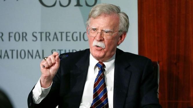 Ông John Bolton trong bài phát biểu tại CSIS, Washington (Ảnh: ABC News)