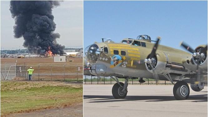 Hiện trường vụ rơi máy bay ở bang Connecticut, Mỹ (Ảnh: Getty)