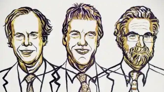 Ba nhà khoa học William Kaelin, Sir Peter Ratcliffe and Gregg Semenza được vinh danh trong lễ trao giải thưởng Nobel Y học 2019 (Ảnh: Nobel Prize)