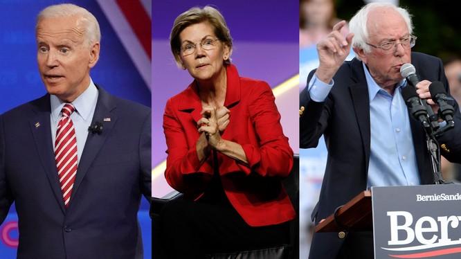 Vòng tranh luận thứ tư của đảng Dân chủ vẫn xoay quanh nhóm bộ ba ứng viên dẫn đầu (Ảnh: Getty)