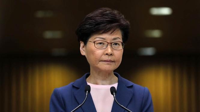 Trưởng đặc khu Hong Kong Carrie Lam (Ảnh: AP)