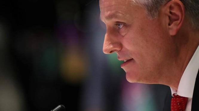 Cố vấn an ninh quốc gia Mỹ Robert O'Brien phát biểu tại hội nghị thượng đỉnh ASEAN-Mỹ sáng 4/11 (Ảnh: Reuters)