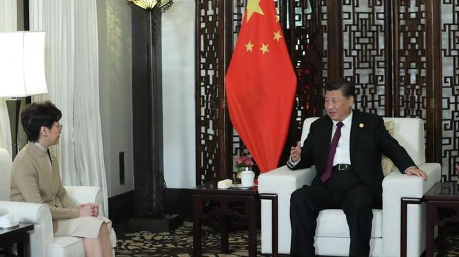 Cuộc họp giữa ông Tập và bà Lam không nằm trong lịch trình (Ảnh: SCMP)