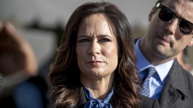 Bà Stephanie Grisham nhận chức vụ thư ký báo chí Nhà Trắng từ tháng 7 năm nay (Ảnh: AP)