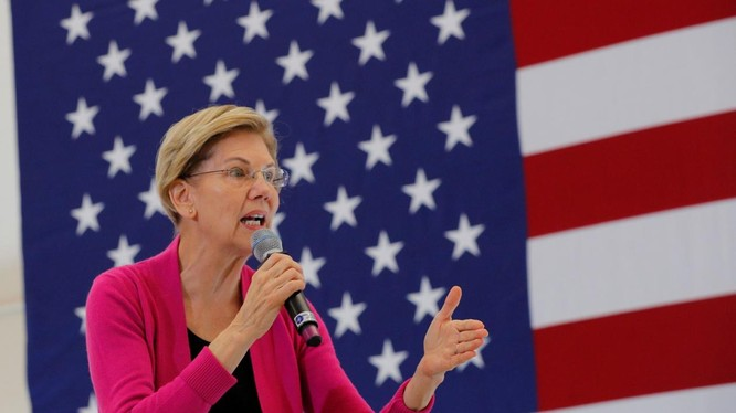 Bà Elizabeth Warren tập trung chủ yếu vào vấn đề chăm sóc sức khỏe và đánh thuế người giàu trong chiến dịch vận động tranh cử (Ảnh: National Interest)
