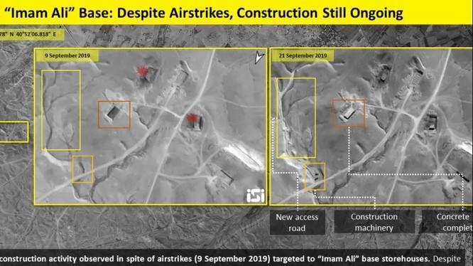 Hình ảnh vệ tinh cho thấy hoạt động xây dựng tại căn cứ này đang được tăng cường (Ảnh: ISI)