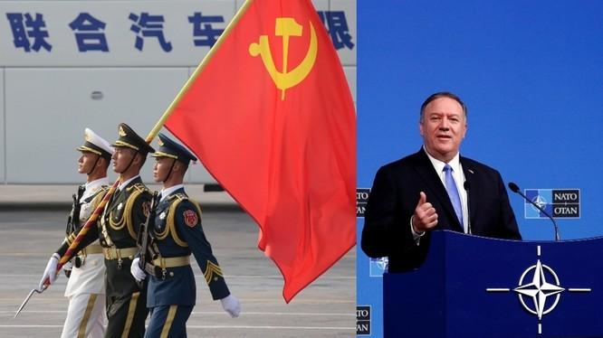 Ngoại trưởng Mỹ Pompeo muốn NATO đối phó với Trung Quốc (Ảnh: RT)