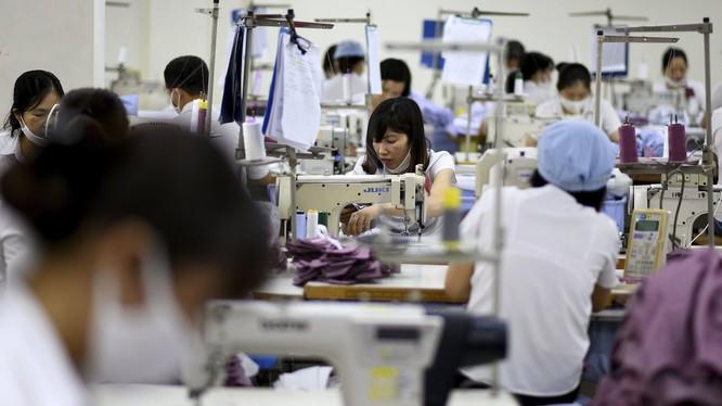 Công nhân làm việc tại một xưởng may xuất khẩu (Ảnh: Dailymail)