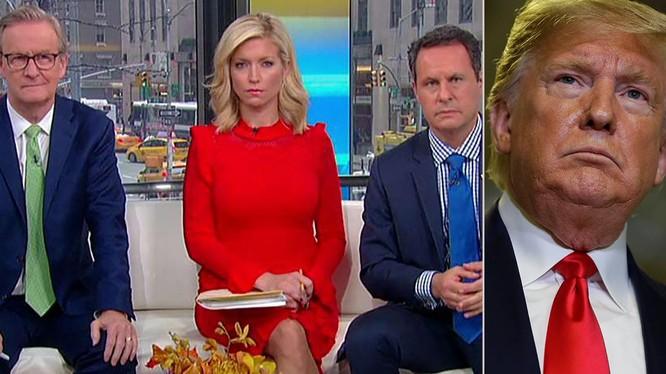 Tổng thống Trump liên tục né tránh những câu hỏi khó và đưa ra nhiều thông tin sai sự thực (Ảnh: fox News)