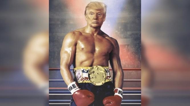 Bức ảnh chế mà ông Trump đăng tải gây sốt mạng (Ảnh: RT)