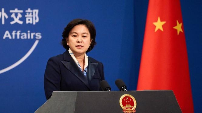 Phát ngôn viên Bộ Ngoại giao Trung Quốc Hoa Xuân Oánh (Ảnh: TASS)