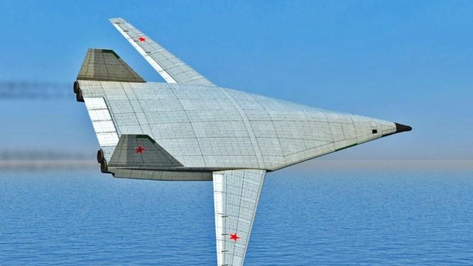 Mẫu máy bay tầm xa PAK DA của Nga (Ảnh: Sputnik)