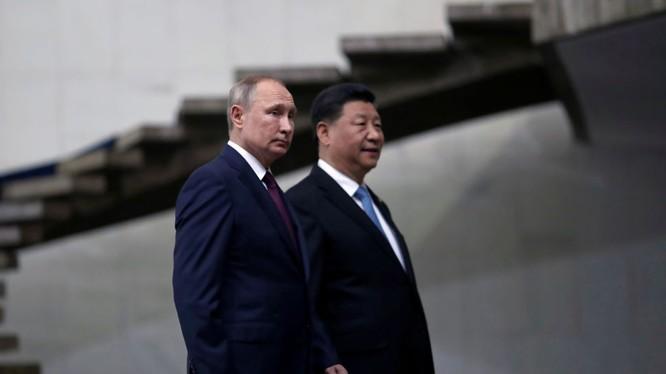 Tổng thống Nga Vladimir Putin và Chủ tịch Trung Quốc Tập Cận Bình trong một cuộc gặp gỡ (Ảnh: Sputnik)