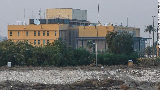 Đại sứ quán Mỹ tại Baghdad, Iraq (Ảnh: CNN)