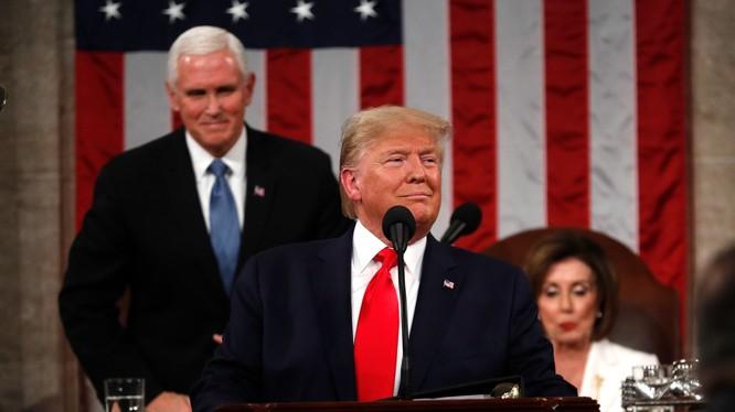 Tổng thống Mỹ Donald Trump đọc Thông điệp liên bang lần thứ ba, cũng là lần cuối cùng trong nhiệm kỳ của ông (Ảnh: NBC)