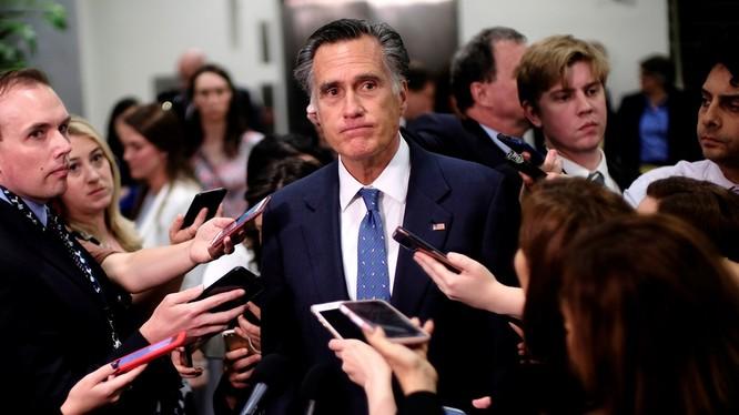 Thượng nghị sĩ Mitt Romney là thành viên đảng Cộng hòa duy nhất bỏ phiếu chống lại Tổng thống Trump trong phiên xét xử tại Thượng viện (Ảnh: National Review)