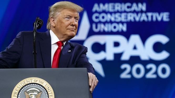 Tổng thống Mỹ Donald Trump tại hội nghị CPAC (Ảnh: Fox News)