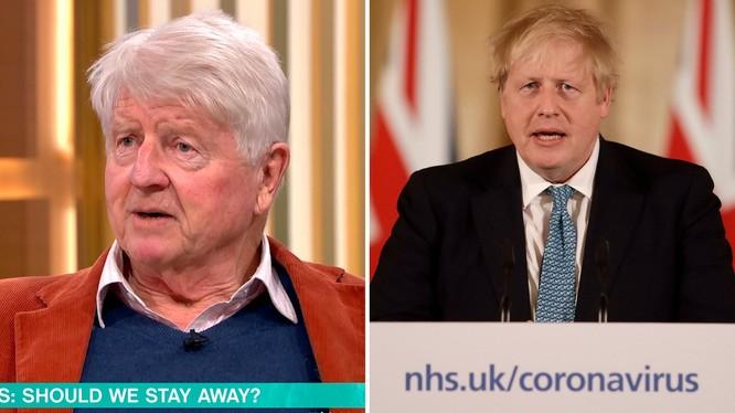 Ông Stanley Johnson (trái) tuyên bố ẫn đi bar như thường, bất chấp khuyến cáo từ chính phủ của con trai mình (Ảnh: Metro)