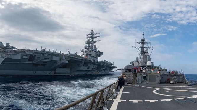 3 hàng không mẫu hạm của Mỹ đang tuần tra vùng biển Thái Bình Dương (Ảnh: CNN)