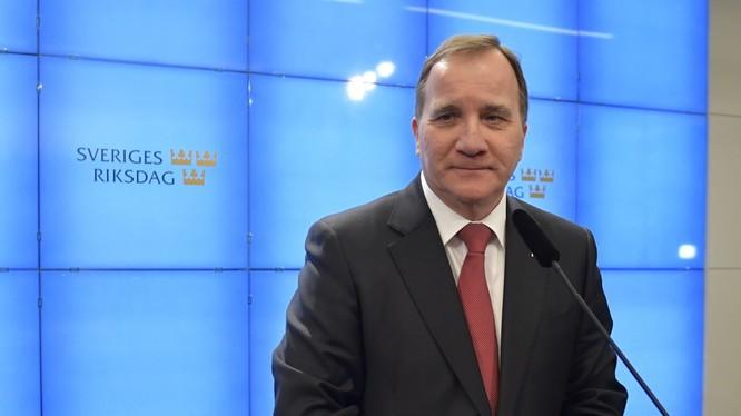 Thủ tướng Thụy Điển Stefan Lofven lên tiếng bảo vệ chiến lược chống COVID-19 gây tranh cãi của nước này (Ảnh: AFP)