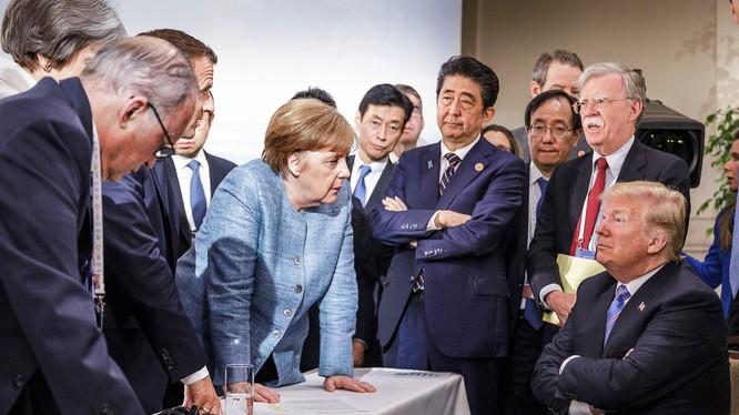 Ông Trump hiếm khi thảo luận các vấn đề toàn cầu với các đồng minh EU (Ảnh: Getty)