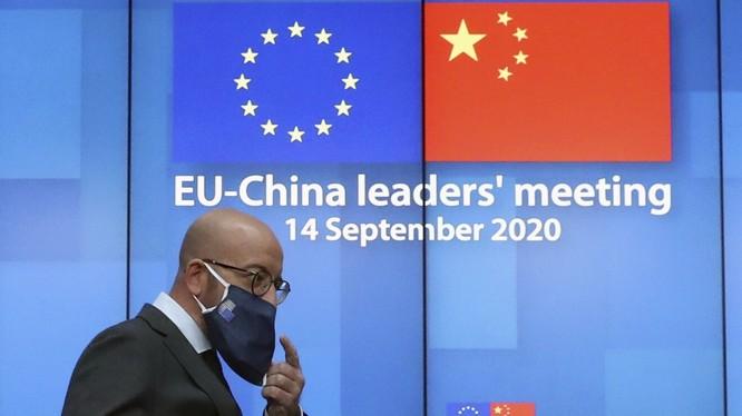 EU thể hiện rõ quan điểm cứng rắn với Trung Quốc trong hội nghị trực tuyến (Ảnh: SCMP)