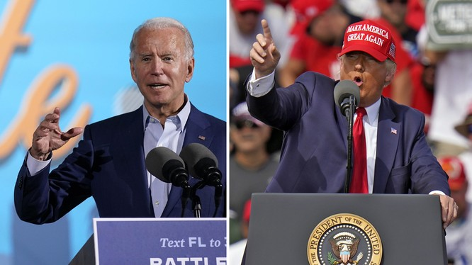 Tổng thống Trump và đối thủ Biden nỗ lực vận động cử tri trước ngày bầu cử (Ảnh: NYTimes)